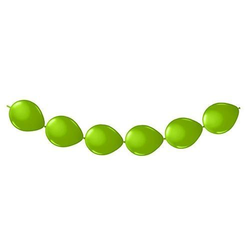 Balloner, knapballoner, 8 stk, grøn