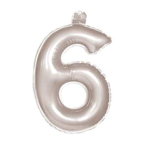 Oppusteligt tal, sølv, 6