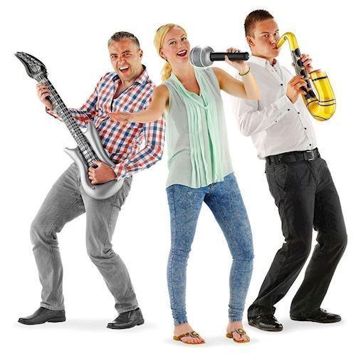 Image of Oppusteligt band sæt, saxofon, guirtar & mikrofon