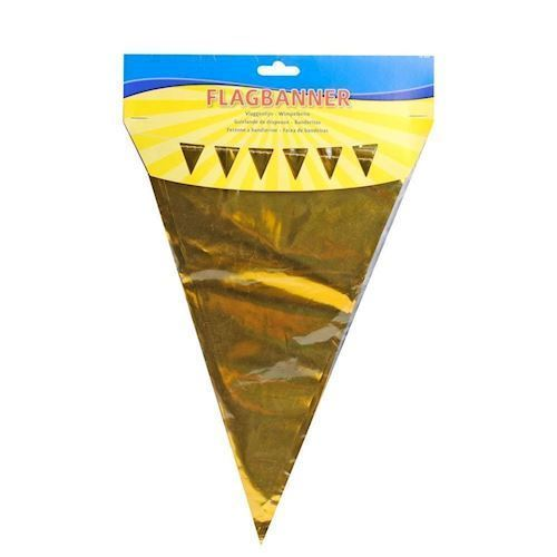 Image of Flagbanner, guld, 10m