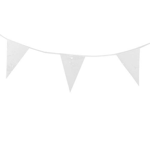 Image of Flagbanner, 10m, hvid