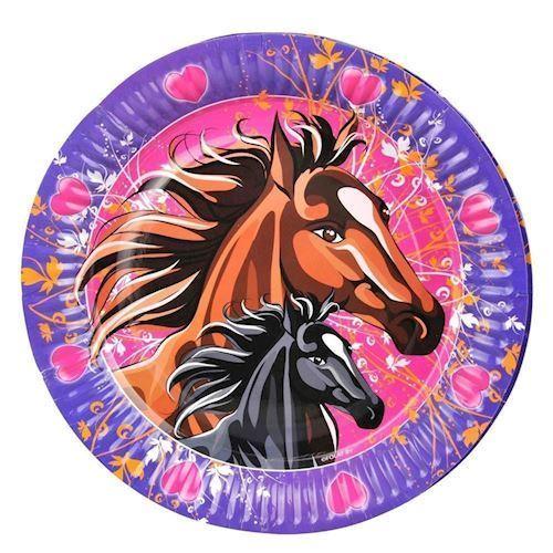 Image of   Tallerkener, Heste, 8 stk