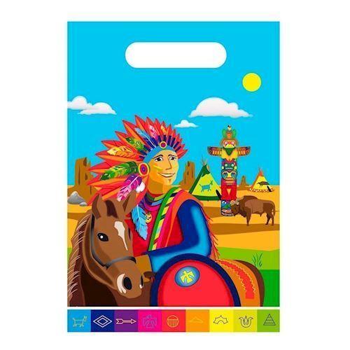 Image of Slikposer, indianer, 8 stk