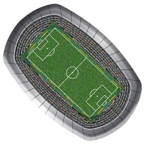 Image of   Tallerkener, Fodbold, 8 stk