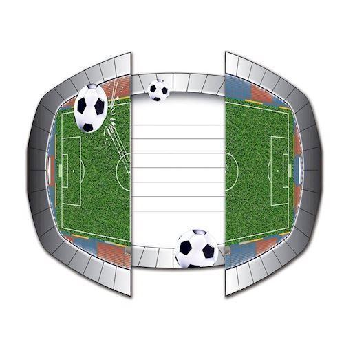 Image of   Invitationer, fodbold, 8 stk