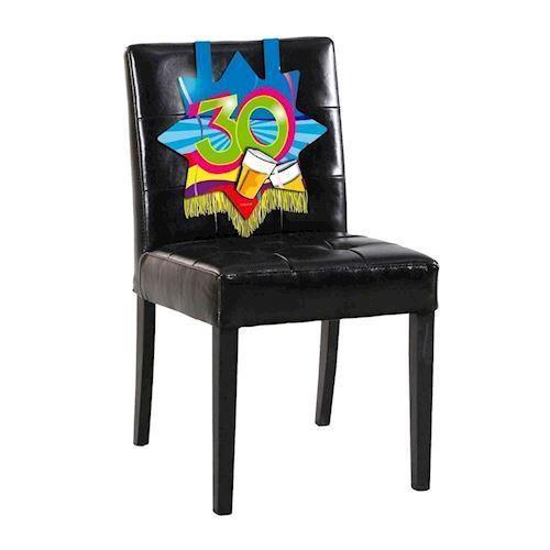 Image of   Party dekoration til stol, 30 års fødselsdag