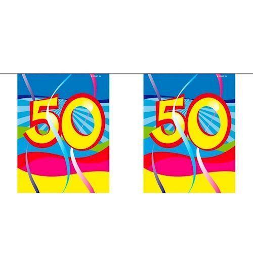 Image of Mini Banner, 50 år, 4 meter