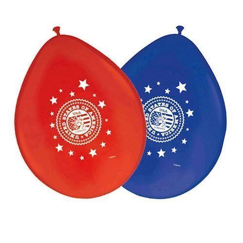 USA fest balloner, 8 stk