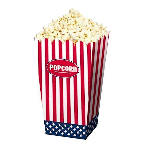 Image of   Popcorn skål USA, 4 stk.