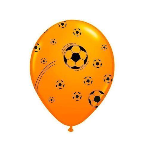 Image of   Balloner, orange, fodbold, 25 stk