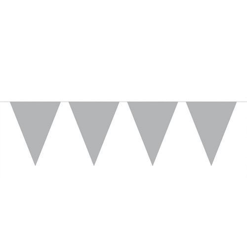 Image of Silver Mini Flags line, 3mtr. (8714572601115)
