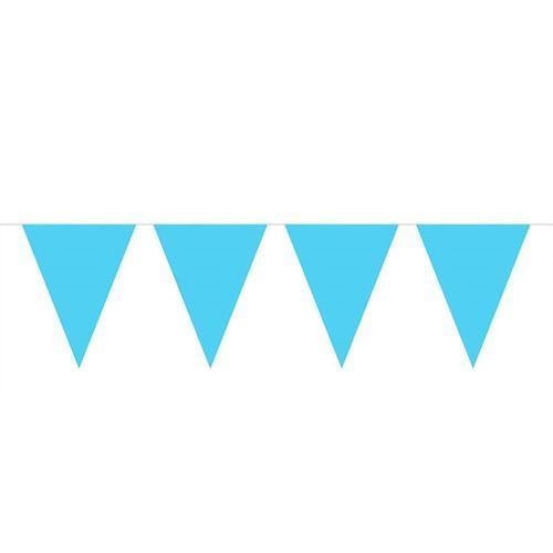 Image of Light blue Mini Flags line, 3mtr.