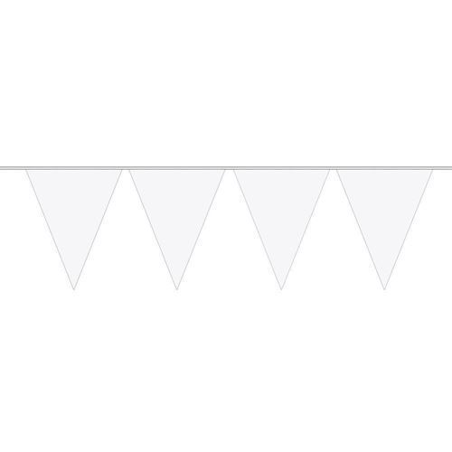 Image of White Mini Flags line, 3mtr.
