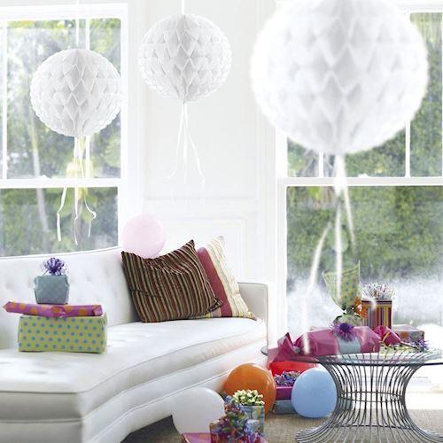 Image of Party Dekoration - Bikube bold - Hvid