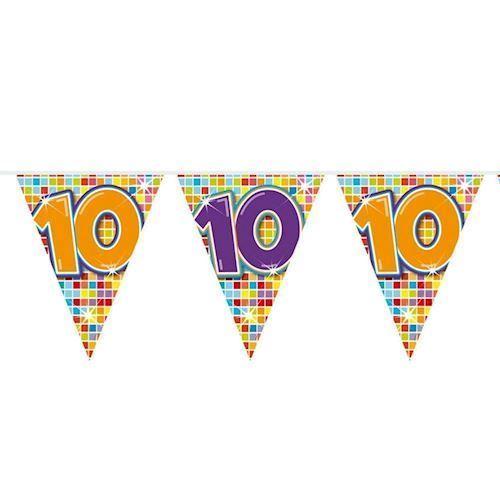 Image of Mini Fødselsdags Banner - 3 meter - 10 år