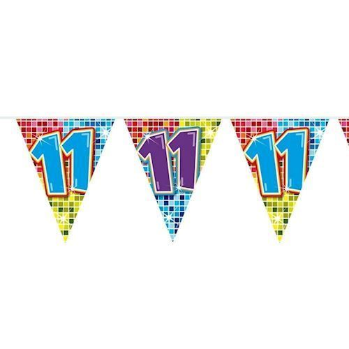 Image of Mini Fødselsdags Banner - 3 meter - 11 år