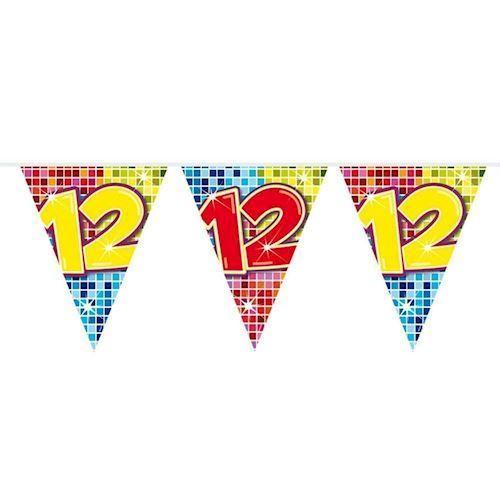 Image of Mini Fødselsdags Banner - 3 meter - 12 år
