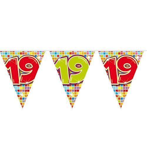 Image of Mini Fødselsdags Banner - 3 meter - 19 år