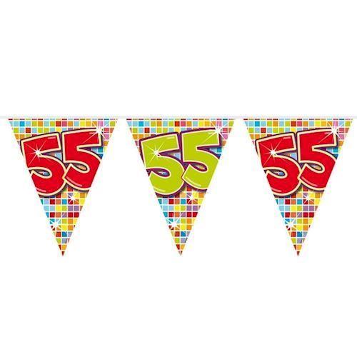 Image of Mini Fødselsdags Banner - 3 meter - 55 år