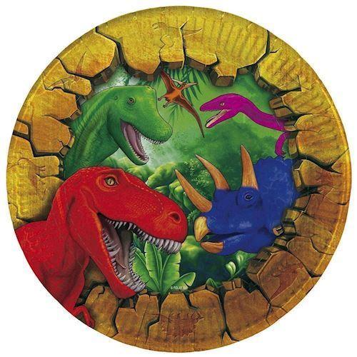 Dinosaur tallerkener 6 stk