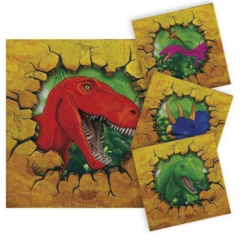 Image of Dinosaur servietter, 16 stk