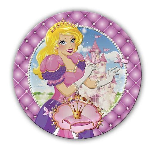 Prinsesse tallerkener, 6 stk