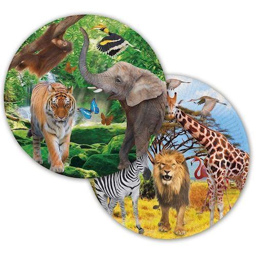 Image of   Safari Tallerkener, 8 stk