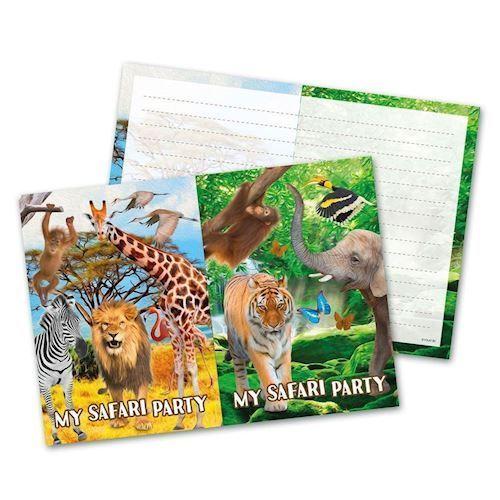 Image of   Safari invitationer, 8 stk