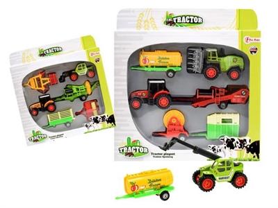 Image of   Legetøjsbiler, Traktor legesæt med 6 dele. Ass. modeller.