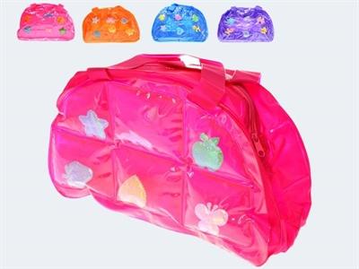 Image of   Oppustelig håndtaske, 26cm, ass. modeller.