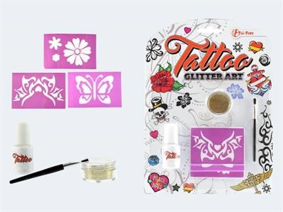 Image of   Tattoo Glitter Art sæt, tatoveringer