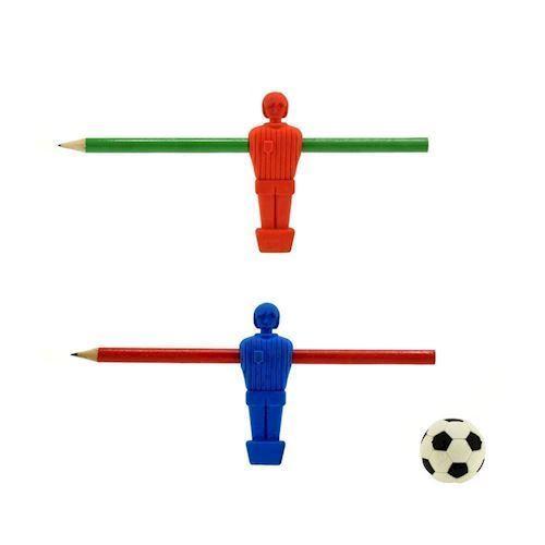 Image of   Blyant med viskelædder, fodbold