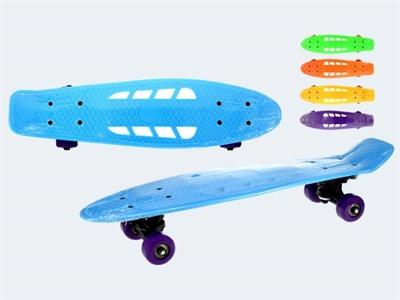 Image of   Skateboard, 55cm plastik, Ass. modeller, max 50kg