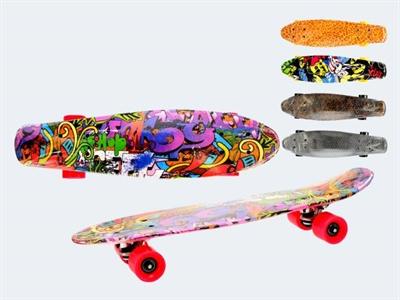 Image of   Skateboard, 60cm Krom, URBAN X neon, plastik, ass. modeller