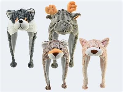 Image of   Hat / hue med dyr. Ass. modeller. Pris pr stk