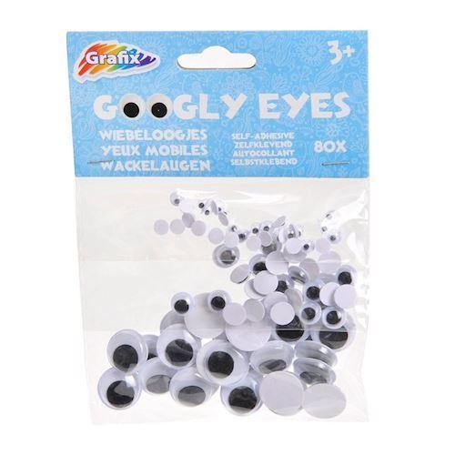 Googly Eyes, klistermærker / mærkater, 80 stk