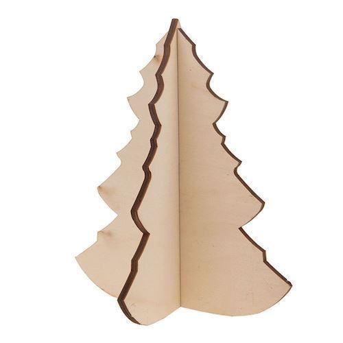 Image of   3D juletræ i træ
