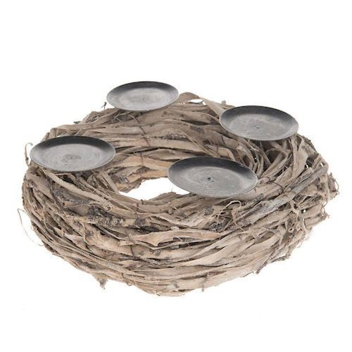 Image of   Dijk Natural Collections Candlestick Wreath, 30 cm