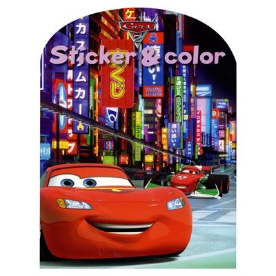Image of   Disney Sticker & Color - Cars Malebog med klistermærker
