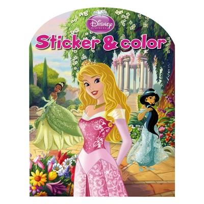 Image of   Disney Sticker &Color-Disney Princess