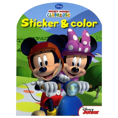Image of   Disney Sticker & Color - Mickey Mouse Malebog med klistermærker