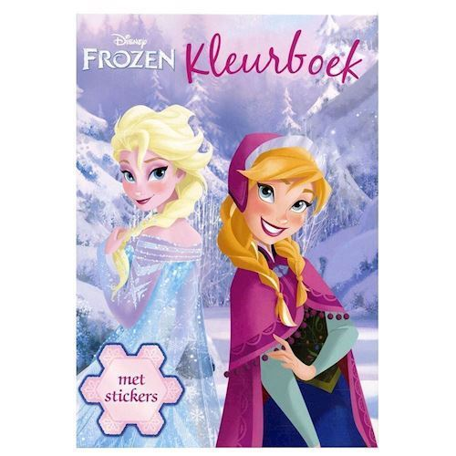 Image of   Disney, Frozen/Frost - Malebog med klistermærker