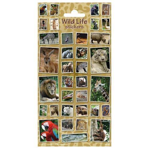 Klistermærker - vilde dyr