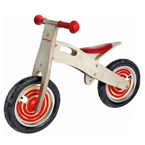 Image of   Balancecykel / gåcykel - rød, i træ