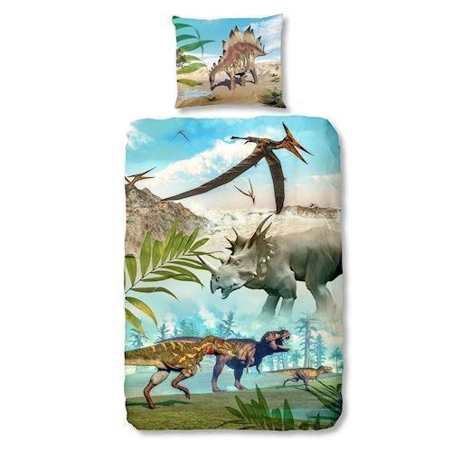Image of   Sengetøj med dinosaur