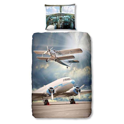 Image of   Sengetøj med flyvemaskiner