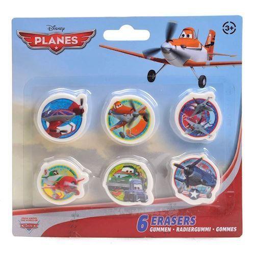 Image of   Disney Flyvemaskiner, viskelæder, 6 stk
