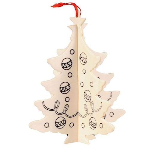 Image of   Julepynt, juletræ 3D