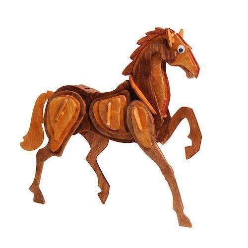 Image of Træ samlesæt, hest