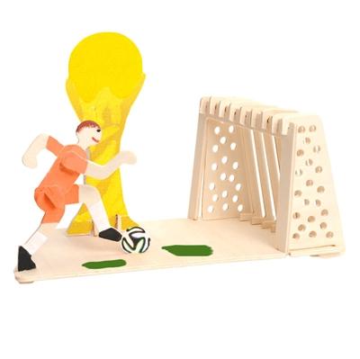 Image of   Træ samlesæt, fodbold